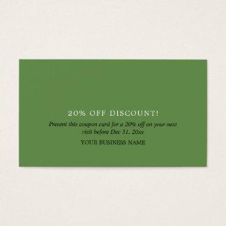 Simple Design Coupon Voucher Business Card