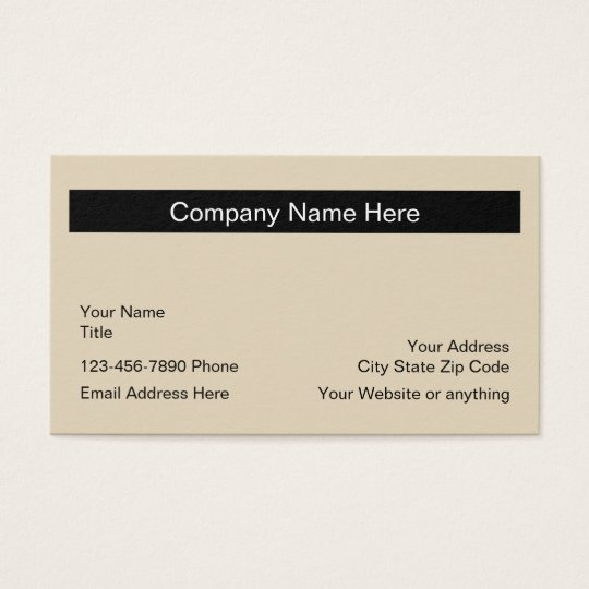 Simple Design Layout Business Card