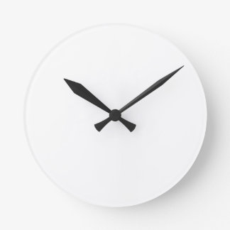 Simple Design Let's Play White Text Funny Round Clock