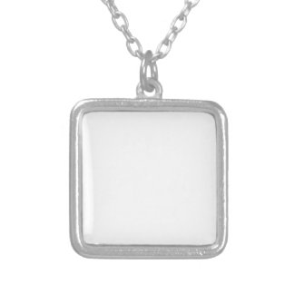 Simple Design Let's Play White Text Funny Silver Plated Necklace