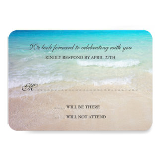 Simple Destination Beach Wedding Reply Cards