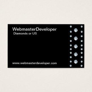 Simple Diamond Border Business Card