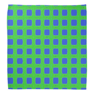 Simple Do-Rag Bandana in Blue and Green