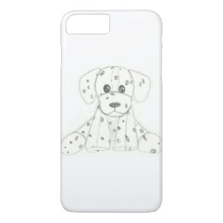 simple dog doodle kids black white dalmatian Case-Mate iPhone case