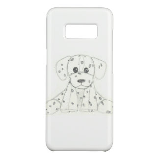 simple dog doodle kids black white dalmatian Case-Mate samsung galaxy s8 case