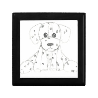 simple dog doodle kids black white dalmatian gift box