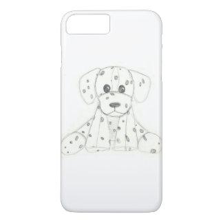 simple dog doodle kids black white dalmatian iPhone 8 plus/7 plus case