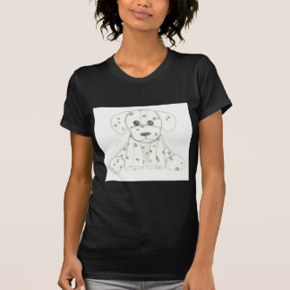 simple dog doodle kids black white dalmatian T-Shirt
