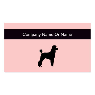 Simple Dog Silhouette Business Cards