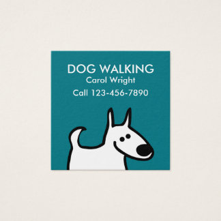 Simple Dog Walking Square Business Card