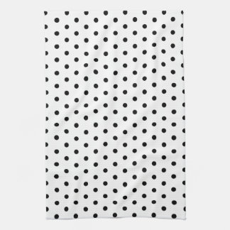 Simple Dots Black and White Polka Dot Design Kitchen Towel