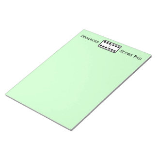 Simple Double Sixes Domino Game Score Pad Green