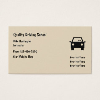 SImple Driving School Instructor Business Card
