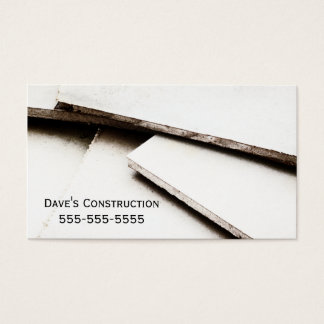 Simple Drywall Construction Business Card