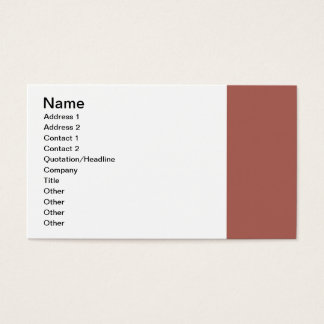 Simple Dusty Brown Border Business Card