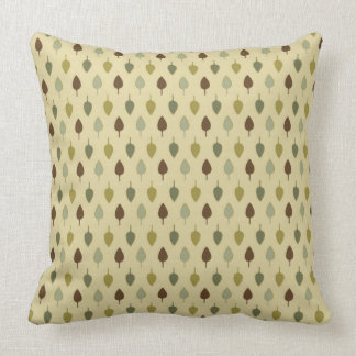 Simple Earth Leaves Throw Pillow
