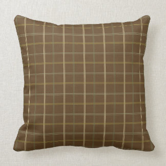 Simple Earth Plaid Throw Pillow