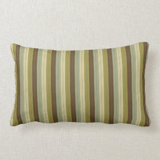 Simple Earth Rain Stripes Lumbar Pillow