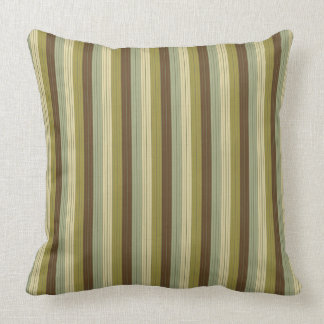 Simple Earth Rain Stripes Throw Pillow