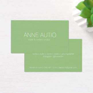 Simple Earthy Green Business Card