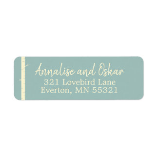 Simple Eggshell Blue Birch Address Labels