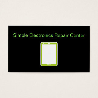Simple Electronics Repair Business Cards