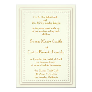 Simple Elegance Cream 5x7 Invitation
