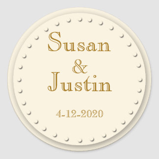Simple Elegance Cream Round Stickers