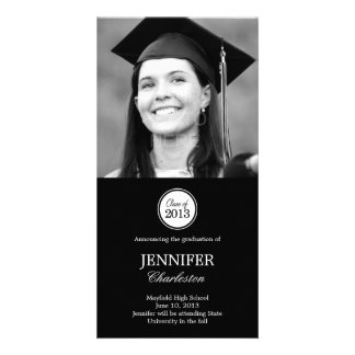 Simple Elegance Graduation Announcement Photo Card