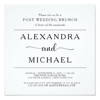 Simple Elegance | Minimalist Post Wedding Brunch Card