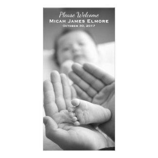 Simple Elegance Photo Birth Announcement Photo Card