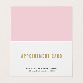 Simple Elegant Beauty Appointment Card