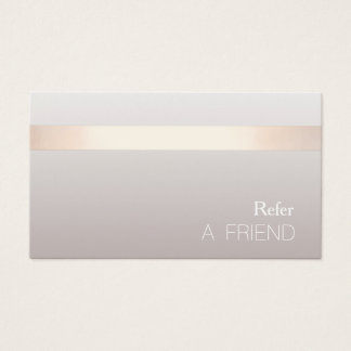 Simple Elegant Beauty Salon Referral Card