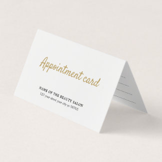 Simple Elegant Beauty White Appointment Card