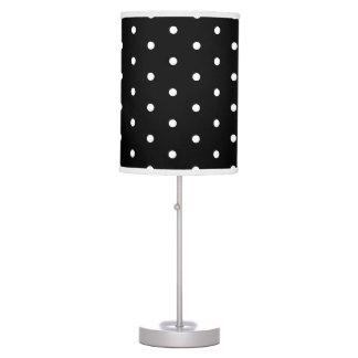 Simple Elegant Black and White Retro Polka Dots Table Lamp