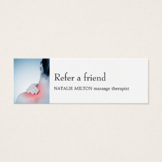 Simple Elegant Blue Massage Therapis Referral Card