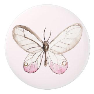 Simple & Elegant Blush Butterfly Ceramic Knob