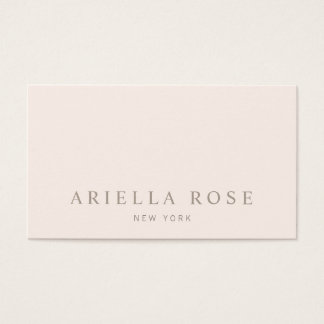 Simple Elegant Blush Pink Professional Business Card