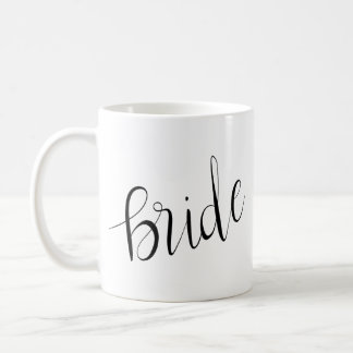 Simple Elegant Bride Typography Wedding Coffee Mug