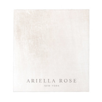 Simple Elegant Brushed White Marble Professiona Notepads