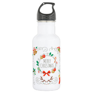 Simple & Elegant Christmas Decoration Water Bottle
