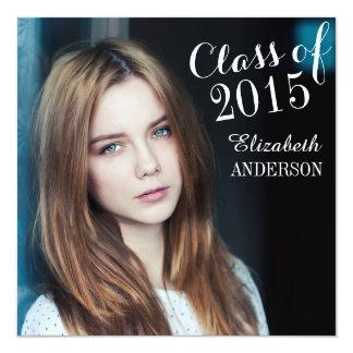 Simple Elegant Class of 2015 Graduation Invitation