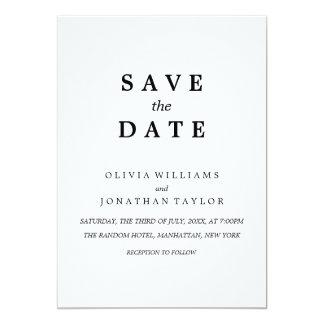 Simple Elegant   Classic Wedding Save The Date Car Card