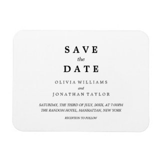 Simple Elegant | Classic Wedding Save The Date Mag Magnet