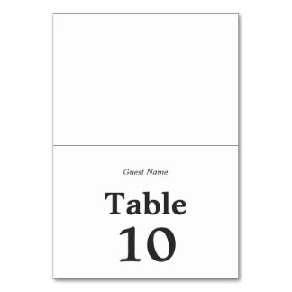 Simple Elegant | Classic Wedding Table Place Card