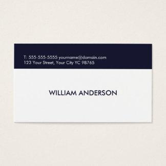 Simple Elegant Clean White Blue Consultant Business Card