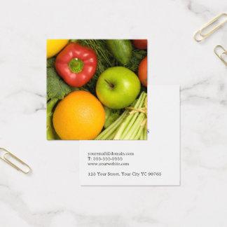 Simple Elegant Colorful Vegetables Nutritionist Square Business Card