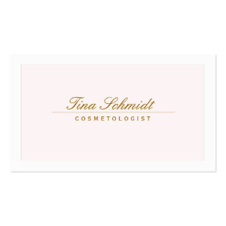 Simple Elegant Cosmetology Spa and Salon Pink 2 Pack Of Standard Business Cards