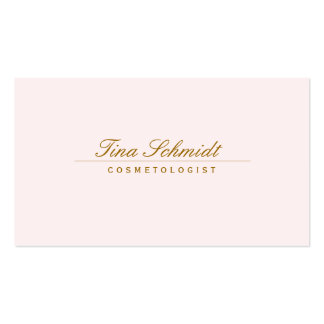 Simple Elegant Cosmetology Spa and Salon Pink Business Card