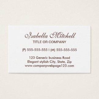 Simple elegant generic business or profile card